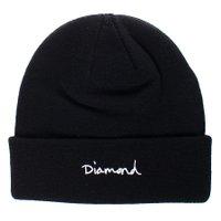 Gorro Diamond OG Script Beanie Preto