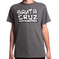 Camiseta Santa Cruz Juvenil Letters Chumbo Mescla