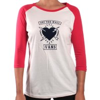 Camiseta Vans One Percent Bege/Vermelho