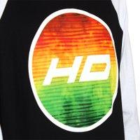 Camiseta HD Raglan Logo Circle Preto/Branco
