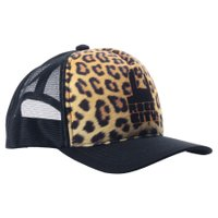Boné Rock City Leopard Amarelo/Preto