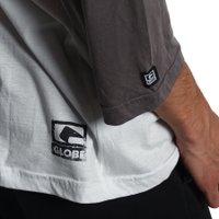 Camiseta Globe Raglan Classics Cinza