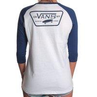Camiseta Vans Raglan Full Patch Branco/Azul