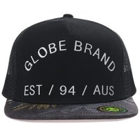 Boné Globe Trucker Hibiscus Preto/Chumbo