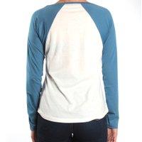 Camiseta Rip Curl Manga Longa Born Traveller Creme/Azul
