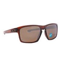Óculos Oakley Silver F Matte Dark Amber Marrom