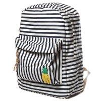 Mochila Perky Blue Rustic Stripes Creme/Azul Marinho