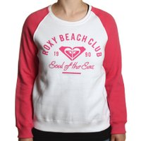 Moletom Roxy Careca Beach Club Branco/Rosa