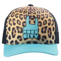 Boné Rock City Leopard Amarelo/Verde Agua