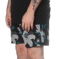 Bermuda Rock City Shorts Floral Clássico Preto/Cinza/Azul