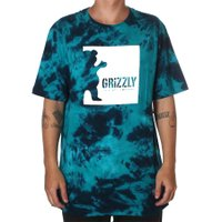Camiseta Grizzly Deep Water Tie Dye Azul