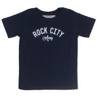 Camiseta Rock City Army Infantil Azul Marinho