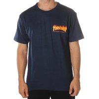Camiseta Thrasher Flame Bottom Azul Marinho