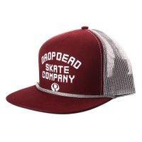 Boné Drop Dead Skate Company Trucker Vermelho
