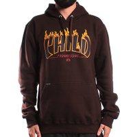 Moletom Child Canguru Fechado Burning Hot Marrom