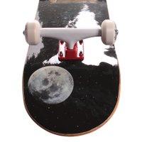 Skate Montado Iniciante Cinza/Vermelho/Branco