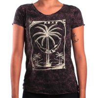 Camiseta Roxy Vacation Mood Preto/Bordo
