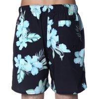 Bermuda Shorts Insane Water Floral Preto/Verde