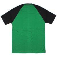 Camiseta Drop Dead Raglan Infantil Sketchy Verde/Preto