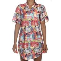 Camisa Little Sugar Sa Rosa/Colorido
