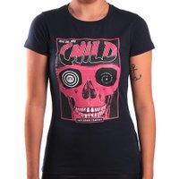 Camiseta Child Skull Poster Azul Marinho