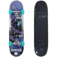 Skate Montado Hondar Serie Mago Dragon Prata/Verde