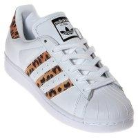 Tênis Adidas Superstar W Branco/Leopardo