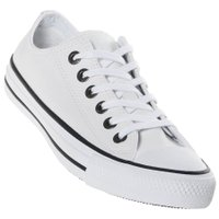 Tênis Converse Chuck Taylor All Star Couro Branco/Preto