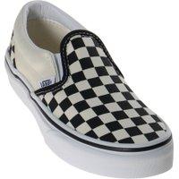 Tênis Vans Slip-On Classic Checkerboard Xadrez Juvenil Creme/Preto