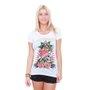 Blusa Ed Hardz Skull And Roses Branco