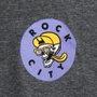 Camiseta Rock City x Nanda Bond Good Times Chumbo Mescla