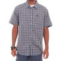Camisa Rvca Oil Rag Plaid Azul