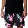 Bermuda Shorts Insane Water Floral Preto/Rosa