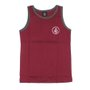 Regata Volcom Basic Top Infantil Bordô