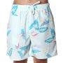 Bermuda Shorts Insane Water Tropical Candy Azul Claro