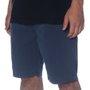 Bermuda Lost Shorts Elástico Sarja Azul