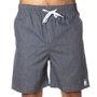 Bermuda Rock City Cos Elástico Logo Azul Jeans