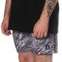 Bermuda Rock City Shorts Flores Listras Borodo/Branco