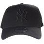 Boné New Era Aba Curva New York Logo Clássico Preto
