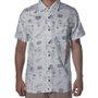 Camisa Hurley Passport Camisa de Botão Manga Curta Branco