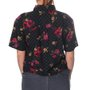 Camisa Vans Flores Cabbie Woven Botanical Preto/Xadrez