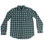 Camisa Vans Manga Longa Dusty Jade Azul/Verde Xadrez