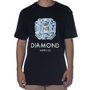 Camiseta Diamond Asscher Cut Preto