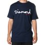 Camiseta Diamond Og Script Azul Marinho