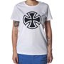 Camiseta Independent Logo Basic Feminina Branco
