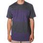 Camiseta Lost Especial Listras Cinza/Roxo