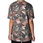 Camiseta Lost Folhagens Feminina Verde Musgo Estampado