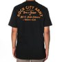 Camiseta Rock City Army Born N Raised Preto/Laranja