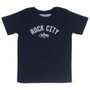 Camiseta Rock City Army Infantil Azul Marinho