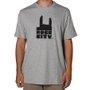 Camiseta Rock City Basic Logo Nac. Mescla/Preto